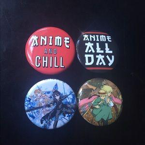Anime pin bundle set